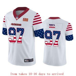 49ers #97 Nick Bosa Jersey Independence Day